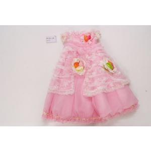 【レンタル】レンタルドレス/3歳用/ピンク/フラワー/カチューシャ付き|goldplants-et