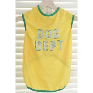 ドッグウェア/犬用シャツ/大型犬用/イエロー|goldplants-et