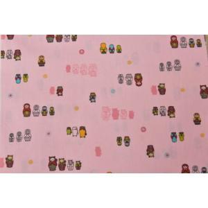 切り売り生地/約24cm巾/マトリョーシカ/カラフル人形/50cm以上10cm単位/コスモテキスタイル goldplants-et