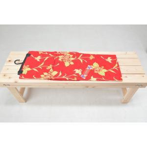 新品浴衣 綿100% マスクカバー用生地 赤色 花柄|goldplants-et