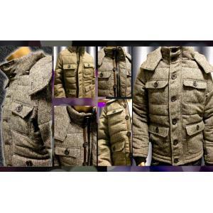 SHAGGY パイロットボタン中綿入りフード付きジャケット|goldress