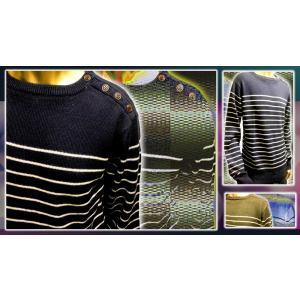 SHAGGY  7GGボーダークルーネックセーター|goldress