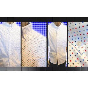 SHAGGY OX:Multi-dot  half_length sleeve goldress