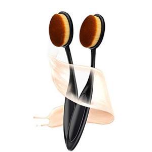 歯ブラシ型 ファンデーションブラシ メイクブラシ メイクアップブラシ コスメ 化粧 ファンデーションブラシ 専用キャップ付き 2点セット|goldriver