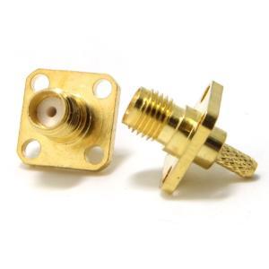 wuernine 5個セット SMA型メス圧着端子コネクタ 50Ω RG-174 LMR100同軸ケーブル修理自作用アダプタ 50Ω パネル goldriver