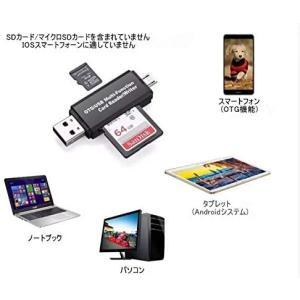 TSUCIAMicro USB/USB接続 PC/Androidスマートフォン・タブレット用カードリーダー(Micro SD/SD両対応)|goldriver