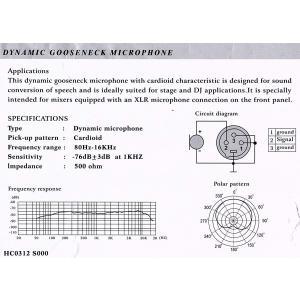 YOGA GM-312S グースネック式マイクロフォン ダイナミック型 単一指向性 全長450mm|goldriver