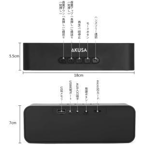 AKUSA Bluetooth スピーカー 高品質 高音質 臨場感満点 FMラジオ ハンズフリー通話 iPhone iPad Android|goldriver
