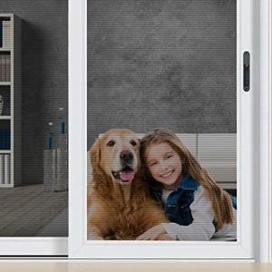 網戸 張り替え ペット専用ネット ドア用ネット ペットディフェンス 猫や犬のために設計された網戸ネット 幅90cm × 長さ220cm|goldriver