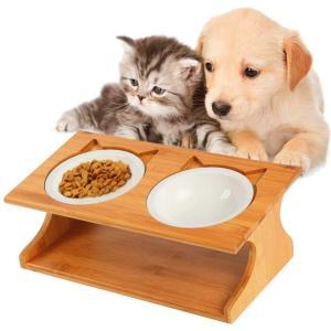 Royalcare 猫 食器 スタンド 陶器 小型犬えさ皿 食台 猫用フード 水 ボウル (35*17.5*13cm)… (猫 食器)|goldriver