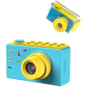 BlueFire 子供用カメラ デジタルカメラ 水中カメラ 10メートル防水機能付き フルHD 1080P高画質 800万画素 録画機能 2 goldriver