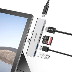 Surface Pro 7専用hubHommie 6ポート付ハブ サーフェスプロ用変換usb c拡張ドック HDMI TF/SDカードリーダ|goldriver