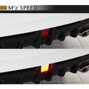 M'z SPEED エムズ スピード ゼウス [ LUV LINE ] ハリアー 60 後期 LEDバックフォグランプ (B) Kit for TypeA リアアンダースポイラー用 goldrush-store