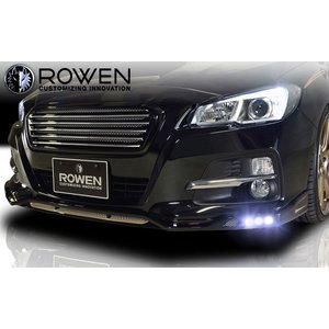 ROWEN ローウェン レヴォーグ 前期 VM4/VMG (2014.6〜2017.7) フロントスポイラー with LED [ボディ色: アイスシルバー・メタリック G1U ] ※塗分色選択 goldrush-store