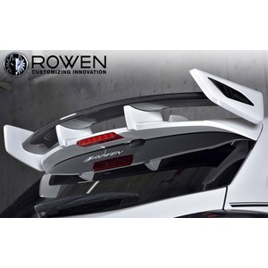 ROWEN ローウェン レヴォーグ 後期 VM4/VMG (2017.8~) リヤウイング Ver.2 [ボディ色: クリスタルホワイト・パール K1X ] ※センターバー部分カーボン|goldrush-store