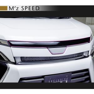 M'z SPEED エムズ スピード ゼウス [ GRACE LINE ] ヴォクシー 80 後期 ZS フードトップモール [ 202 ブラック 塗装品]|goldrush-store