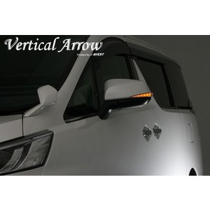 AVEST アルファード ヴェルファイア 30系 LED ドアミラー ウインカー レンズ [Vertical Arrow] ホワイト|goldrush-store