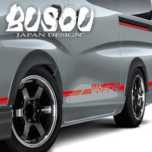 BUSOU ( ブソウ ) 正規販売店 日産 NV350 キャラバン 2017/7発売モデル フェンダーガーニッシュ AES樹脂 (カーボン柄) BGC-0004C|goldrush-store