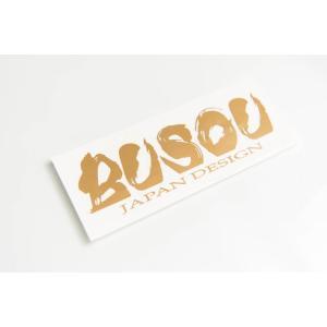 BUSOU ( ブソウ ) 正規販売店 ロゴステッカー BSR0001 goldrush-store