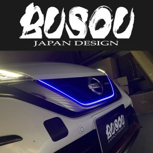 BUSOU ( ブソウ ) 正規販売店 E12 ノート e-power LED グリルライン ブルー goldrush-store