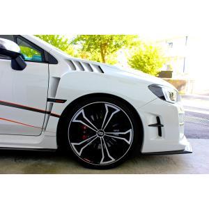 ダムド エアロ スバル WRX S4 STI DAMD フロント エアロ オーバーフェンダー 未塗装品素地|goldrush-store