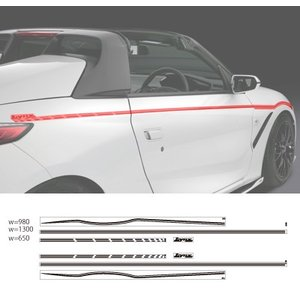 シルクブレイズ Lynx Works S660 サイド デコライン カラー選択 ( シルバーメタリック / ガンメタリック )|goldrush-store