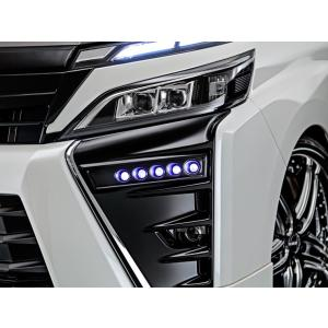 アドミレイション デポルテ 80 ヴォクシー VOXY ZS 後期 LED スポット KIT 5連 [塗装 ブラックマイカ 209 ] 純正バンパー専用|goldrush-store