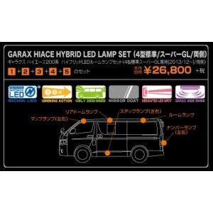 GARAX ギャラクス 200系 ハイエース ハイブリッドLED ルームランプ セット 4型 前期 標準/スーパーGL 専用 8Pセット( 両側 ) H-HA2-12|goldrush-store