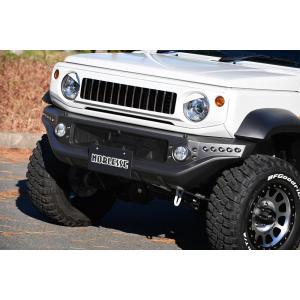 ノブレッセ JB74 ジムニーシエラ用 フロントバンパー A (ウォッシャーノズル非対応) ABS製 艶消しブラック|goldrush-store