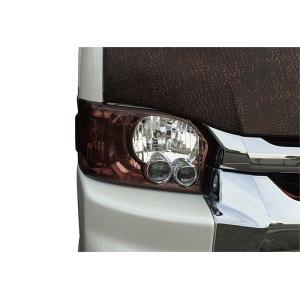 LEGANCE レガンス 200系ハイエース 4型 カラーインナーLOOKヘッドライトカバー ワインブラウン ワイド・ナロー|goldrush-store