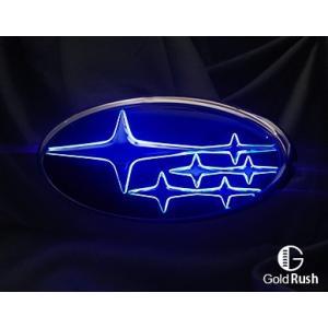 Junack ジュナック スバル  LED トランス エンブレム スバル LTE-S1 スリムラインver レヴォーグ VM4 VMG (アプライドA〜D型) フロント|goldrush-store
