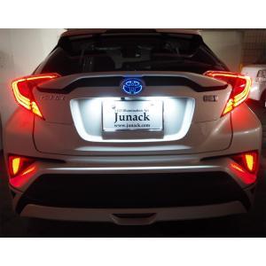 Junack ジュナック LED トランス エンブレム トヨタ C-HR ( C HR ) ハイブリッド含む ZYX10 / NGX50 LTE-T8 リア|goldrush-store