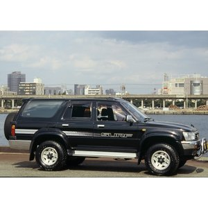 ドアバイザー OXバイザー ベイシック ハイラックスサーフ 130系 ox-101 フロント 4ドア車対応|goldrush-store