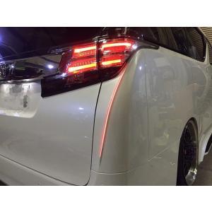 シックスセンス 30 アルファード 後期 LED リア コーナーパネル FRP 未塗装|goldrush-store