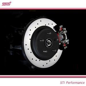 SUBARU スバル  STI パーツ LEVORG レヴォーグ 型式 VM ドリルドディスク ブレーキローター リヤ ST26700VV000 17インチブレーキ車用 goldrush-store
