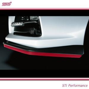 SUBARU スバル  STI パーツ インプレッサ 4ドア 型式 GV ( WRX STI ) スカートリップ ST96020ST010 チェリーレッド STIフロントアンダースポイラー共着必須|goldrush-store