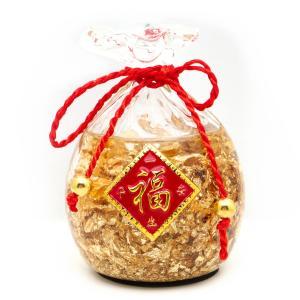 黄金の福袋 置き物 金箔入り お正月 縁起物 箱付き 開運 風水 幸福 幸運