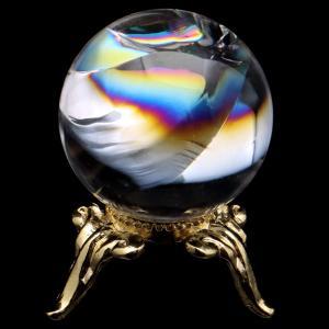 ■サイズ 直径約22mm   台座が付属します。   ■虹入り水晶について  虹入り水晶は、水晶内に...