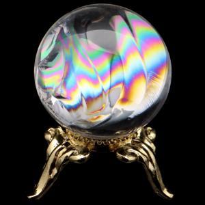 ■サイズ 直径約21mm   台座が付属します。   ■虹入り水晶について  虹入り水晶は、水晶内に...