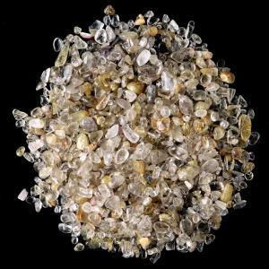 ゴールドルチル(針水晶) 高品質 さざれ石 100g 天然石 パワーストーン 浄化グッズ