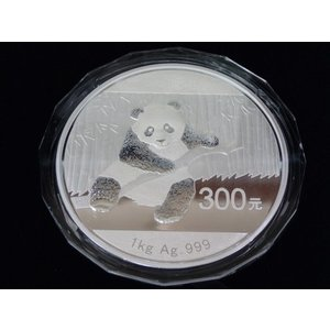 中国 パンダ銀貨1kg  2014|goldtohki