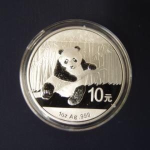 中国 パンダ銀貨1オンス 2014年|goldtohki