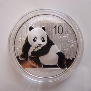 中国 パンダ銀貨1オンス 2015年|goldtohki