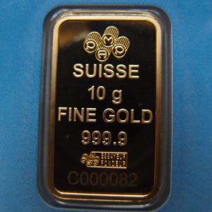 スイス パンプ社製 純金10g インゴット クロスバー|goldtohki