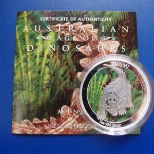 オーストラリア DINOSAURS プルーフ銀貨|goldtohki