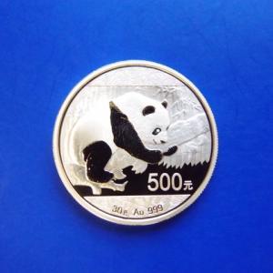 中国 パンダ金貨 30g 500元 2016年|goldtohki