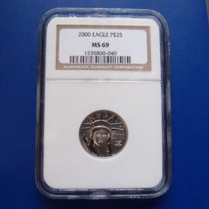 アメリカ プラチナイーグルコイン 1/4オンス 2000年|goldtohki