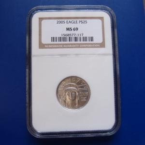 アメリカ プラチナイーグルコイン 1/4オンス 2005年|goldtohki