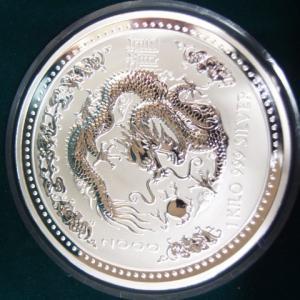 オーストラリア 干支銀貨1kg 辰年 2000年|goldtohki