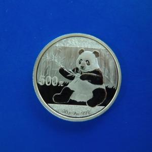 中国 パンダ金貨 30g 500元 2017年|goldtohki